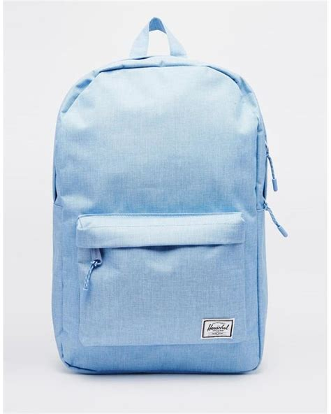 Original Herschel Classic Backpack Chambray herschel supply co classic backpack in chambray blue in blue chambray lyst