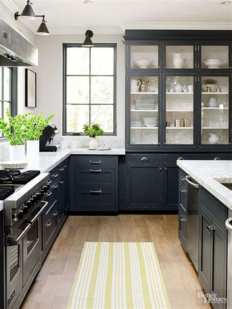Black Cupboards Kitchen Ideas Best 25 Black Kitchen Cabinets Ideas On Pinterest