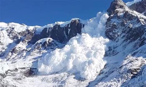 monstrous avalanche barrels  mountainside  chile