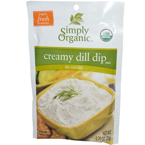 dip useful resources simply organic creamy dill dip mix 12 packets 0 70 oz