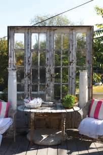 Using Old Windows In The Garden Salvaged Doors And Windows Outdoor And Room Decoration