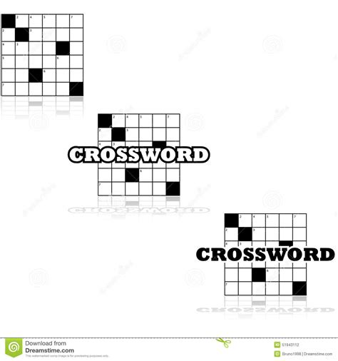 section crossword clue crossword icons stock illustration image 51943112