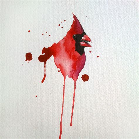 watercolor cardinal tattoo cardinal watercolor by excentric deviantart on