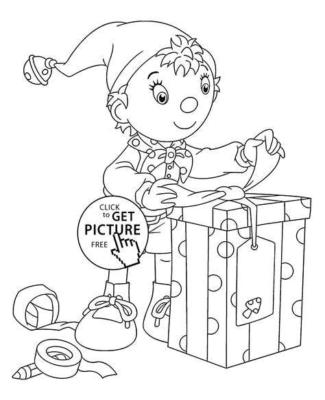 noddy coloring pages games noddy free colouring pages
