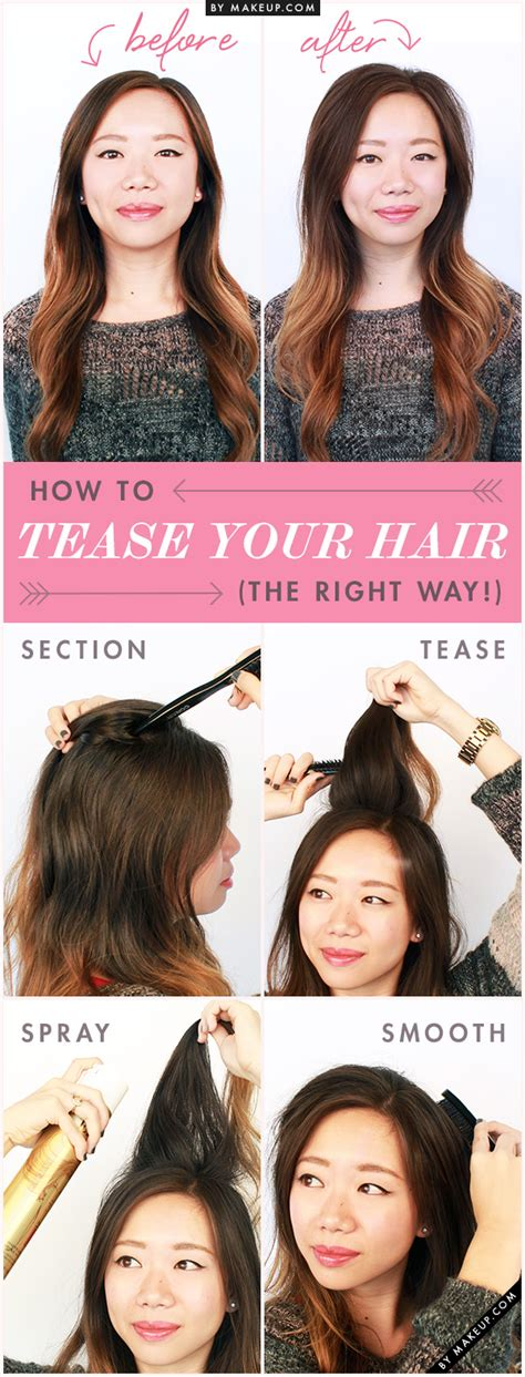 how to properly tease your hair makeupcom 17 awesome hair hacks for the lazy girl