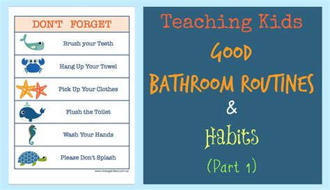 Bathroom Tidy Ideas Teaching Kids Good Bathroom Routines Amp Habits Part 1