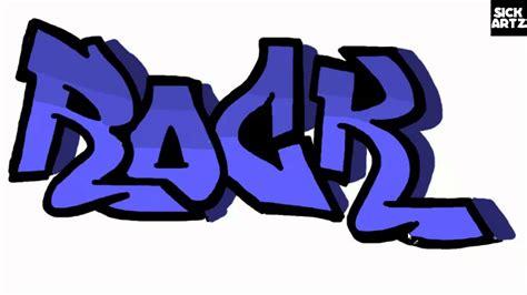 draw graffiti rock speed painting tutorial sketch