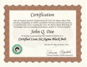 Six Sigma Black Belt Certificate Template Example Of Certificate Of Recognition Submited Images