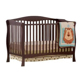 Baby Crib Specifications by Storkcraft Savona Fixed Side Convertible Crib Espresso