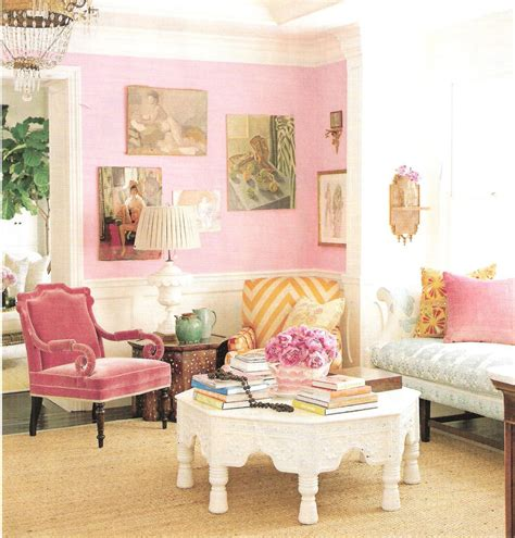 pink and gold living room design and decorating harmonique style april 2012