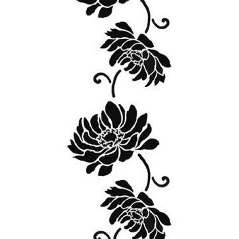 easy pattern stencil designs flower stencil anemone stripe easy diy wall decor with