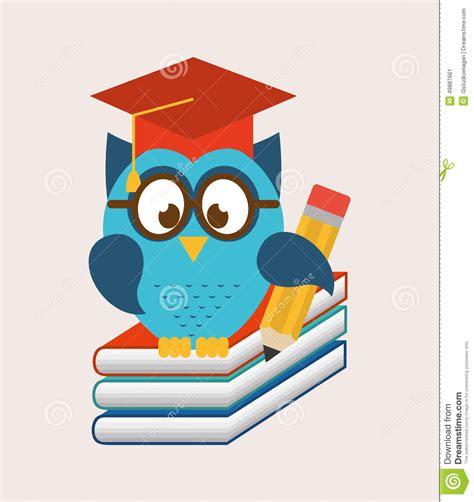 design graphics school owls school stock vector image 49887661