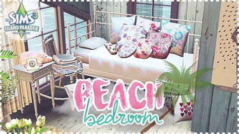 sims 3 bedroom decor the sims 3 speed decor beach bedroom cc included youtube