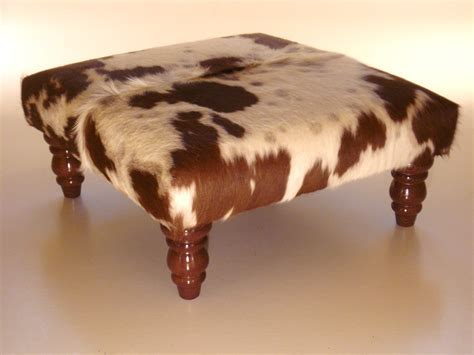 cow ottoman cowhide footstool ottoman real cowhide