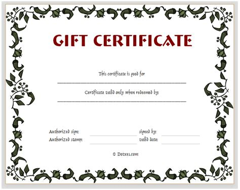 blank gift certificate template 29 examples in pdf word free