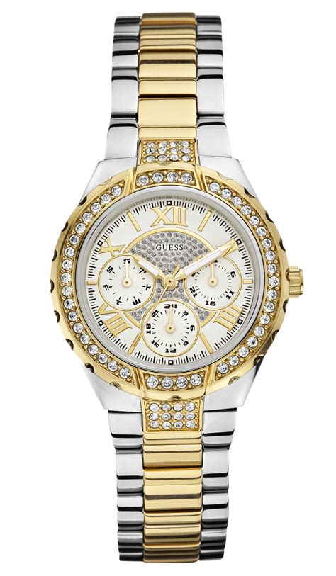 Guess Ceramica Bulat Gold Berkualitas guess ur i guld s 248 lv kombination med krystaller til