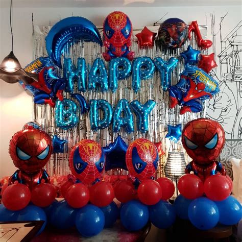 spider man theme party birthday surprise decoration pack
