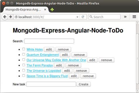 node js mean tutorial mean stack tutorial node todo list app with mongodb ii