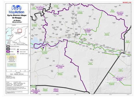 syria district maps ar raqqa district  ar raqqa