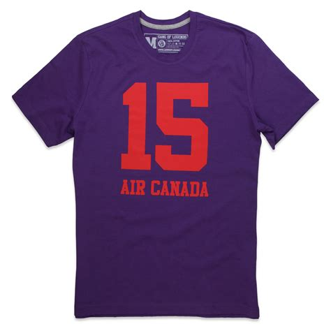T Shirt Air Canada t shirt homme air canada violet by of legends