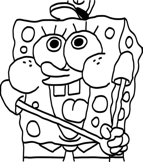 baby spongebob printable coloring page only coloring pages