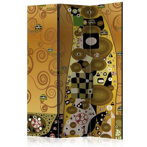 deko trennwand deko paravent raumteiler trennwand abstrakt klimt