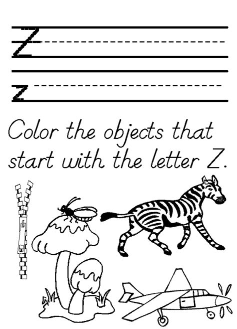 letter z coloring pages preschool preschool tracer letter z worksheet homeschool helper