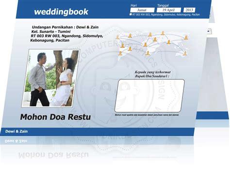Kartu Undangan Pernikahan Model Kartu Pos undangan desain unik undangan pernikahan bentuk kalender