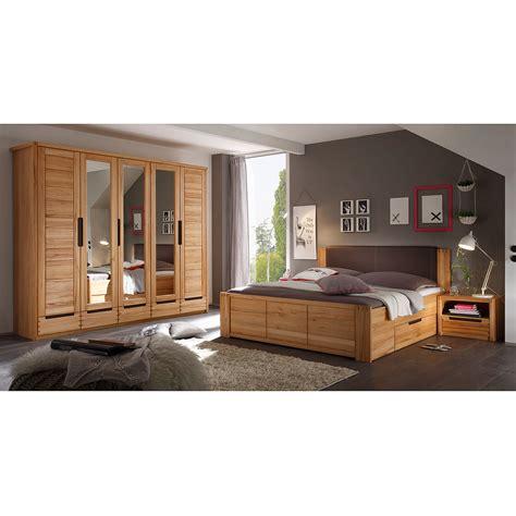 schlafzimmer set echtholz schlafzimmer colorado schrank bett nako set kernbuche