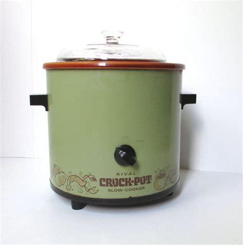 Rival Crock Pot by Vintage Rival Crock Pot Retro Avocado Green Cooker
