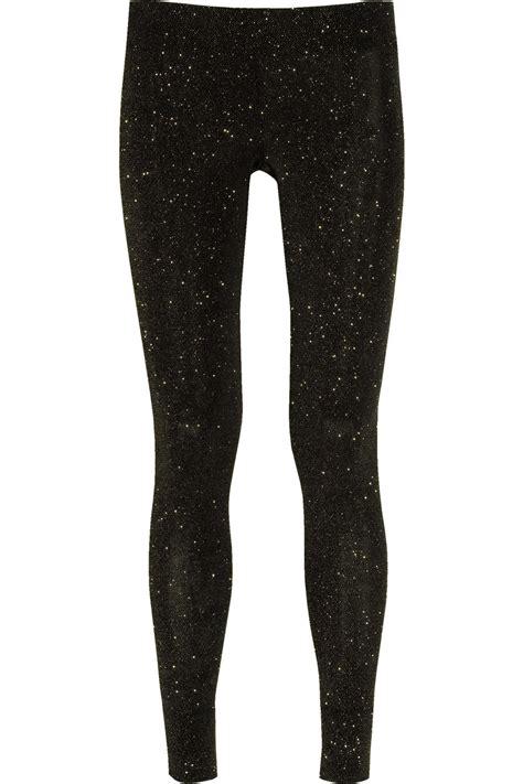 Legging Gliter vivienne westwood anglomania glitter stretch jersey in black lyst