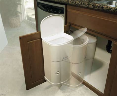 Sink Trash Can Door Mount by Janibell 4 Gal Abs Receptacle White Cabinet Mount