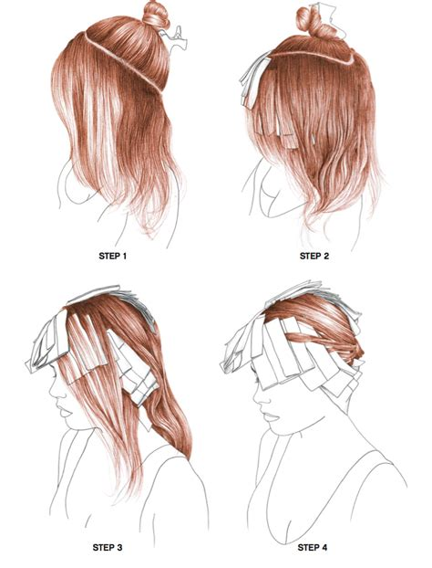 how to section hair radiance step by step bangstyle
