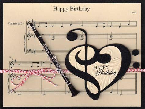 Musical Cards - clarinet birthday card