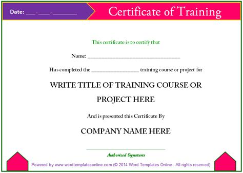 download certificates templates free microsoft valid free training