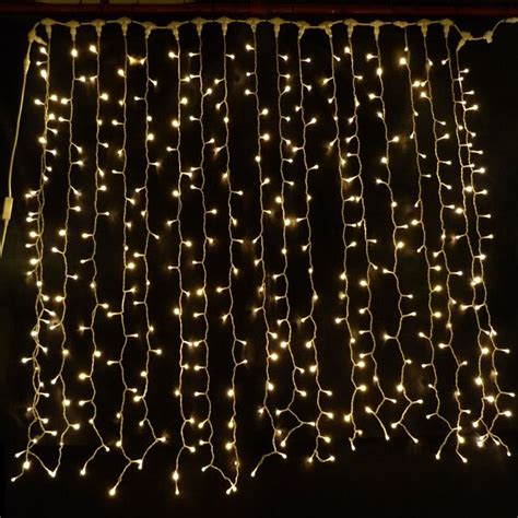 lighting curtain warm white led curtain light 2m x 1 5m connectable 380