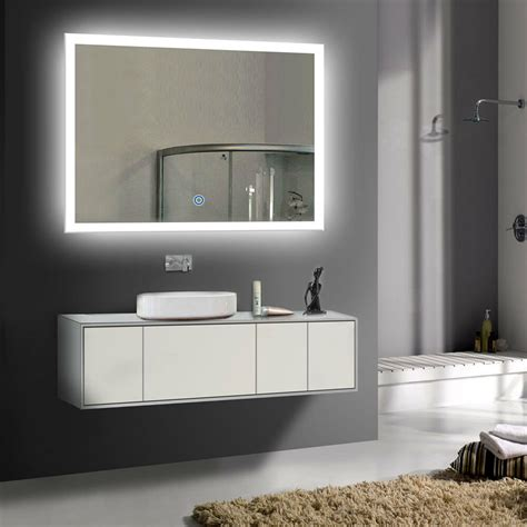 Lighted Mirrors For Bathrooms Modern by Led Bathroom Wall Mirror Illuminated Lighted Vanity Mirror