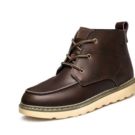 s leather martin flat autumn winter warm boots casual