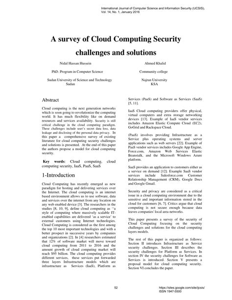 research paper on cloud computing security a survey of cloud computing security pdf