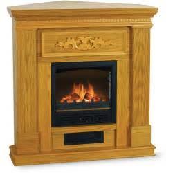 quality craft 38 quot corner flat electric fireplace oak