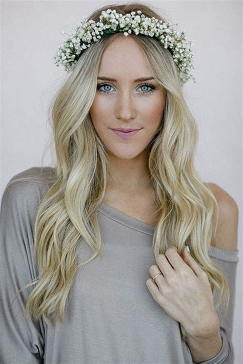 Wedding Hairstyles With Flower Crown by 18 Gorgeous Wedding Hairstyles With Flower Crown Page 3