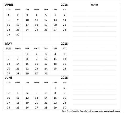 3 month calendar template 2018 april may june 2018 calendar printable fcbihor