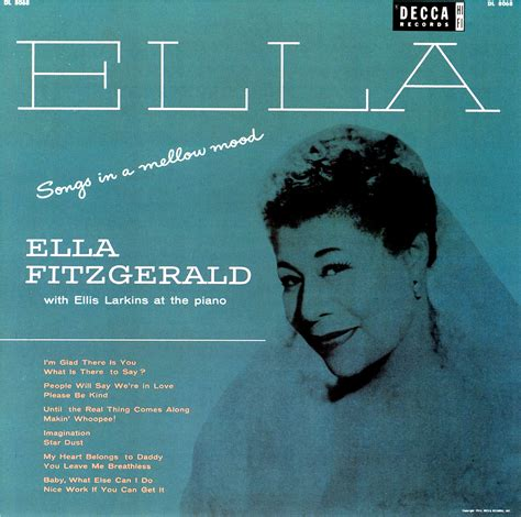 song ella fitzgerald 1954 ella fitzgerald songs in a mellow mood the