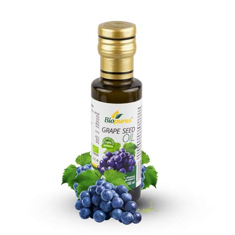 grapeseed by organic supply co certified organic cold pressed grape seed 100ml biopurus
