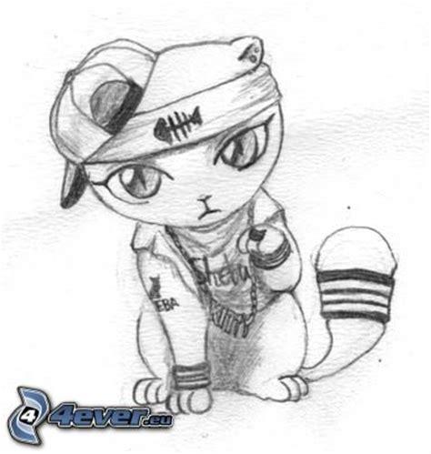 imagenes de amor hip hop para dibujar gato de la historieta