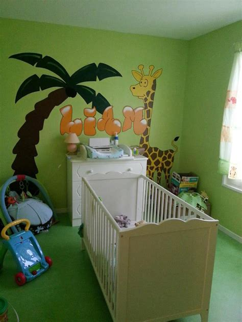 chambre enfant jungle deco chambre jungle bebe