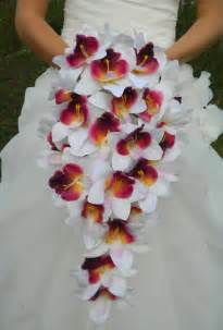 orchid bouquet orchid bouquet cascade purple plum lavender white