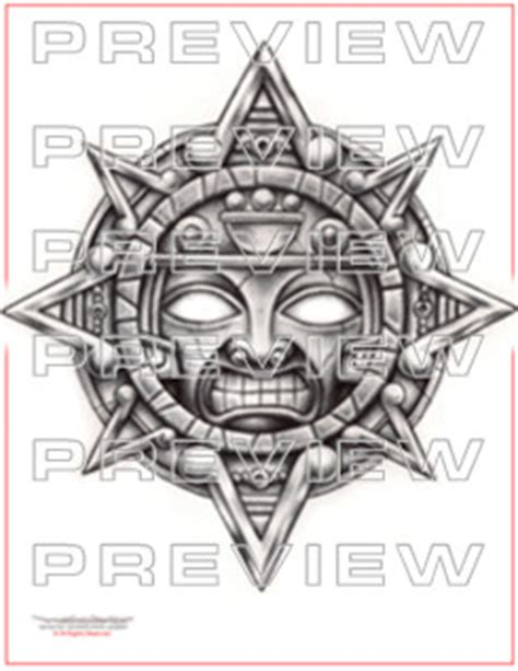 aztec sun god tattoo designs aztec sun aztec tattoos aztec mayan inca