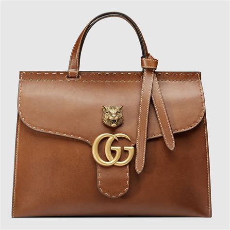 gucci bag gg marmont leather top handle bag gucci s totes