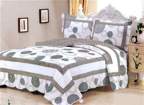 coverlets full size 3 pieces quot dotty quot white black bedspread quilt coverlet full